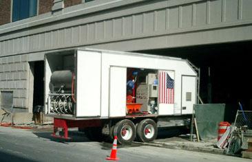 Flytspackellastbil New York